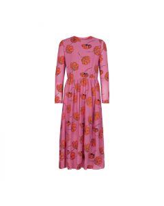 Kjole, Tessie - Mesh - Rød, pink - The New