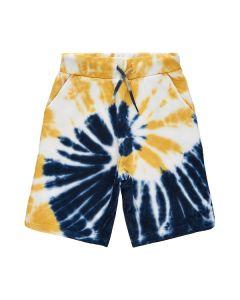 Shorts , Uberto, Batik - Navy, gul - The New