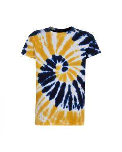 T-shirt, Uberto, Batik - Navy-Gul - The New