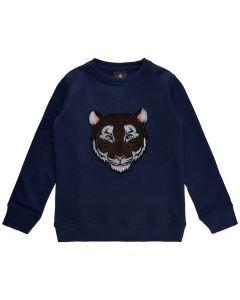 Sweatshirt m. Tiger - Navy - The New